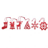 Pack of 6 Felt Christmas Tree Decorations
